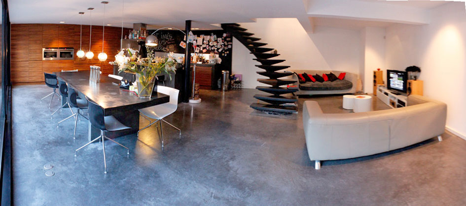 r habilitation d un garage transform en loft ad architecture. Black Bedroom Furniture Sets. Home Design Ideas